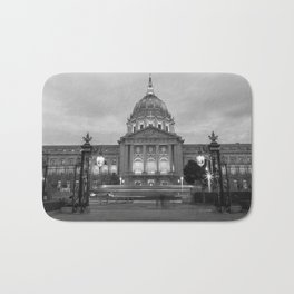 San Francisco City Hall BW Bath Mat