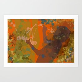 Voyager (Orange) Art Print