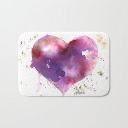 Purple Heart Bath Mat