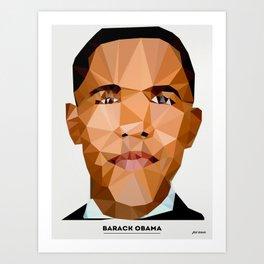 Obama Poly Art Print