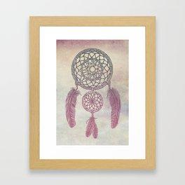 Double Dream Catcher (Rose) Framed Art Print
