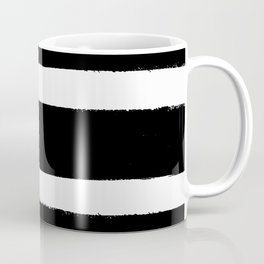 Black & White Paint Stripes by Friztin Coffee Mug