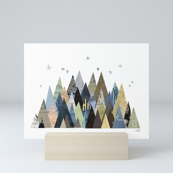 Mountain Collage Mini Art Print