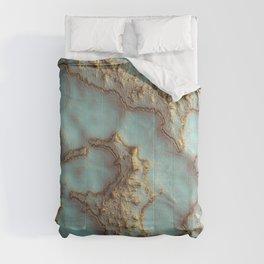 Aqua Coral Reef Abstract Comforters