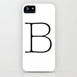 Letter B Typewriting iPhone Case