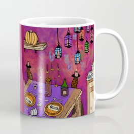 Autumn Table in Candlelight Coffee Mug