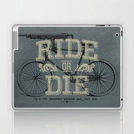 Ride Or Die Bicycle Print Laptop & iPad Skin