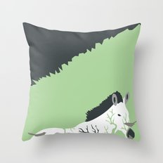 Zebra in the Woods Throw Pillow
