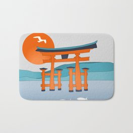 Japanese Shinto at Morning Bath Mat
