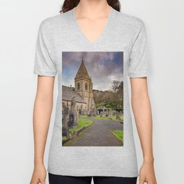 Church at Pantasaph Unisex V-Neck