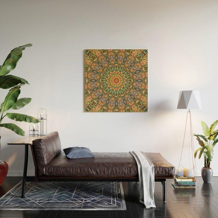 Kaleidoscope Mandala Wood Wall Art