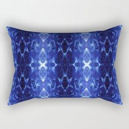 Ikat Shibori Blues Rectangular Pillow