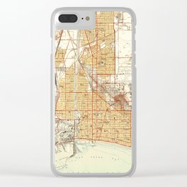Vintage Map of Long Beach California (1949) Clear iPhone Case