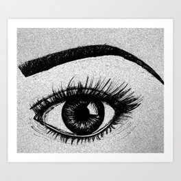That Eyes Art Print