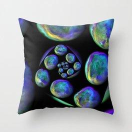 Spiral Worlds Throw Pillow