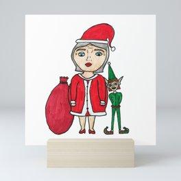 Mrs. Santa Claus  Mini Art Print
