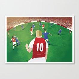 Dennis Bergkamp at Arsenal FC Canvas Print