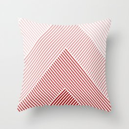 Shades of Red Abstract geometric pattern Throw Pillow