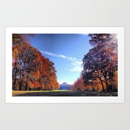 Fall on the Commons Art Print