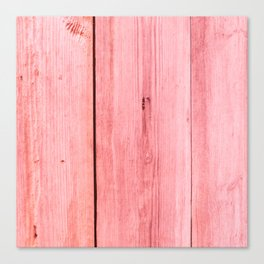 PINK STAINED WOOD TEXTURE Canvas Print