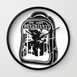 One More Adventure Wall Clock