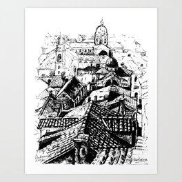 Dubrovnik View Art Print