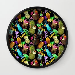 Tropical Happy Hour Wall Clock