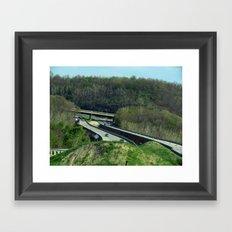 The Vastness of the Highway Framed Art Print