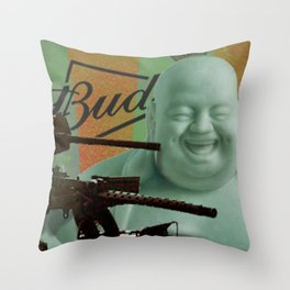 Buddha-wiser Throw Pillow