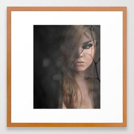 Peeking Through  Framed Art Print