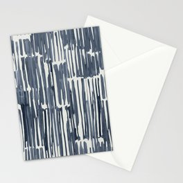 Simply Bamboo Brushstroke Indigo Blue on Lunar Gray Stationery Cards