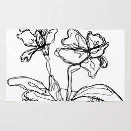 Mason Jar Flowers Rug