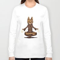 jedi Long Sleeve T-shirts featuring Jedi cat by Toms Tomsons