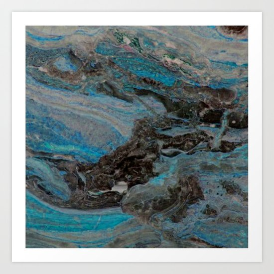 Marble, it is cool, aloof and especially elegant Art Print