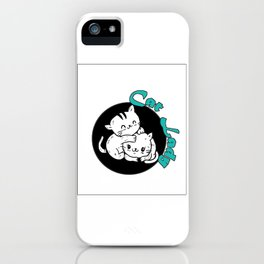 Cat Lady Colorful iPhone Case
