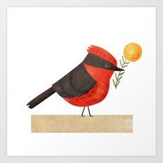 Vermilion Flycathcer Art Print