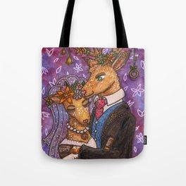 Deer Wedding Bride Groom Couple Tote Bag