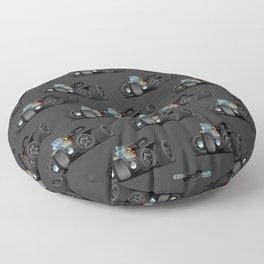 Hot Custom Black Street Rod Coupe Floor Pillow