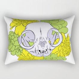 Persian Kitty Skull Rectangular Pillow