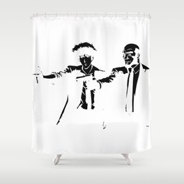 Cowboy Bebop - Spike Jet Knockout Black Shower Curtain