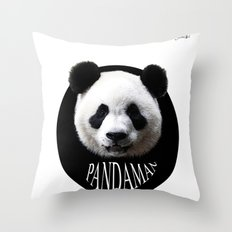 Panda cool man colors fashion Jacob's Paris Throw Pillow