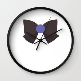 Sailor Saturn Bow Wall Clock