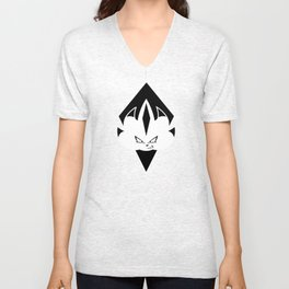 Chaos Nazo Emblem (Black and White) Unisex V-Neck