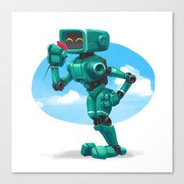 Aqua Bot Canvas Print