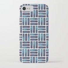 Navy Watercolour Rectangles Slim Case iPhone 7