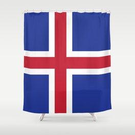 Iceland flag emblem Shower Curtain
