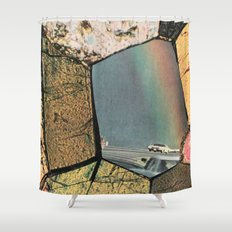 Hole In The Rainbow Shower Curtain