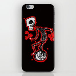Cyclops on a unicycle iPhone Skin