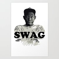 tyler the creator Art Prints featuring Tyler The Creator SWAG by Misadventures