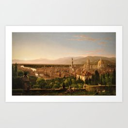 View of the Duomo and Florence, Italy by Thomas Cole Art Print